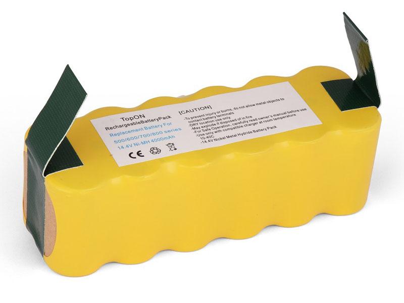Аккумулятор TopON TOP-IRBT500-40 для iRobot Roomba 500 / 520 560 570 580 780 785 865 876 886 R3 Series. 14.4V 4000mAh PN: GD-ROOMBA-500