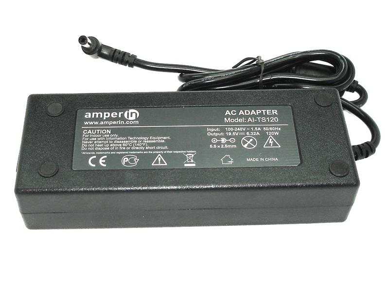 блок питания amperin ai hp90c для hp pavilion 15 e 15 n series hp 19 5v 4 62a 4 5x3 0mm 90w Блок питания Amperin AI-TS120 для Toshiba 19V 6.3A 5.5x2.5mm 120W