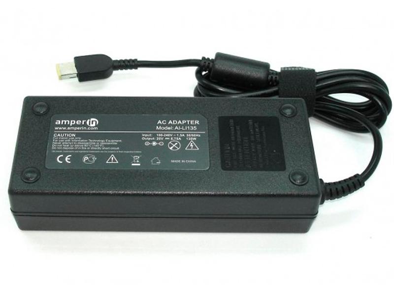 блок питания amperin ai hp90c для hp pavilion 15 e 15 n series hp 19 5v 4 62a 4 5x3 0mm 90w Блок питания Amperin AI-LI135 для Lenovo 20V 6.75A прямоугольный с иглой 135W