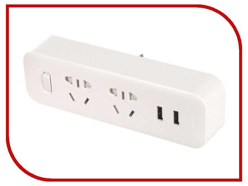 Купить Удлинитель Xiaomi Mi Power Strip Sockets 2 USB 2 White NRB4022CN