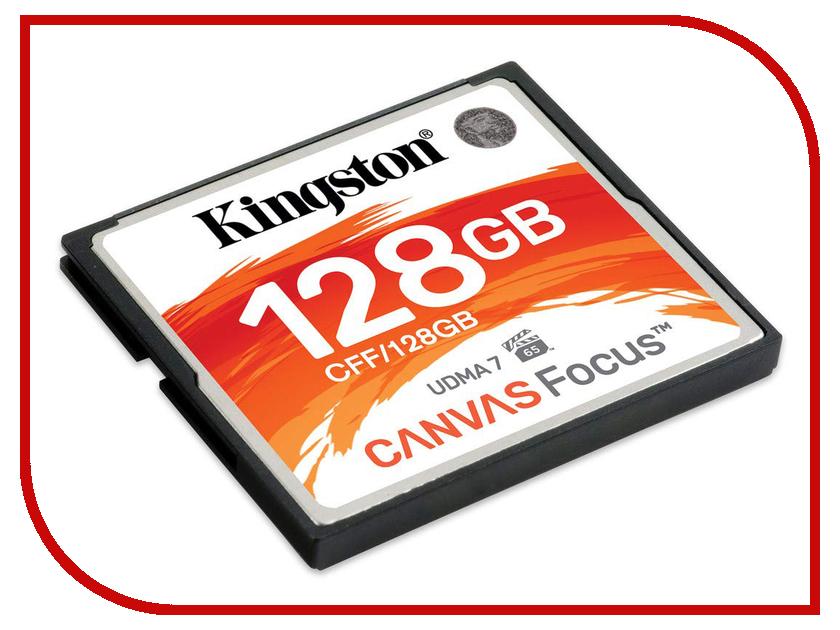 Купить Карта памяти 128Gb - Kingston Compact Flash Canvas Focus CFF/128GB