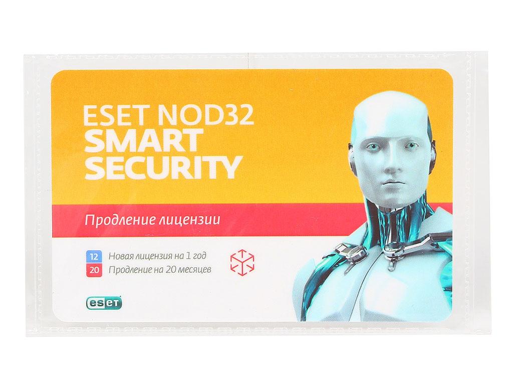 onlime card Программное обеспечение ESET NOD32 Smart Security - продление лицензии на 20 месяцев или новая на 1 год на 3PC NOD32-ESS-2012RN(CARD)-1-1