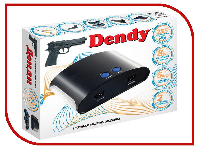 Купить Игровая приставка Dendy 255 игр + световой пистолет