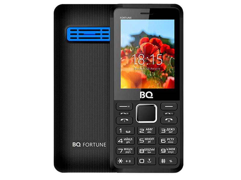 сотовый телефон fly slimline black blue Сотовый телефон BQ BQ-2436 Fortune Power Black-Blue