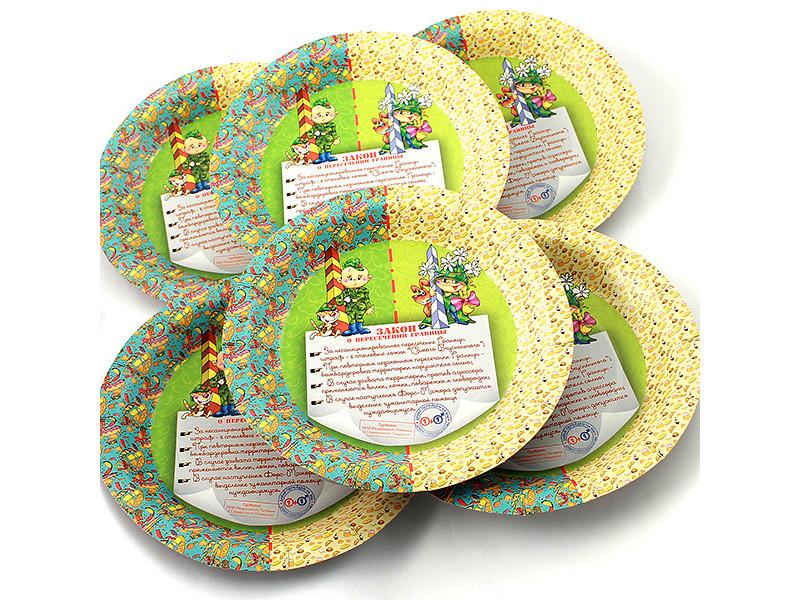 Одноразовые тарелки Эврика N 16 Закон о пересечении 190mm 6шт 96961
