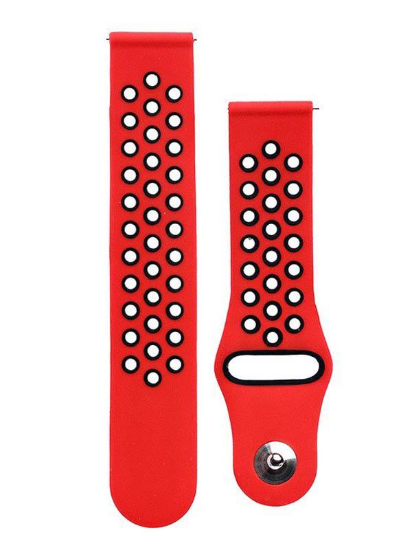 часы цена самсунг gear s Аксессуар Ремешок для Samsung Gear Sport/Gear S2 Classic/Galaxy Watch 42mm Activ Sport N Red-Black 93116