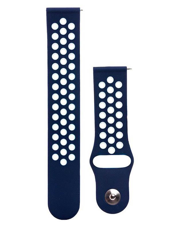 часы цена самсунг gear s Аксессуар Ремешок для Samsung Gear Sport/Gear S2 Classic/Galaxy Watch 42mm Activ Sport N Dark Blue-Blue 93114