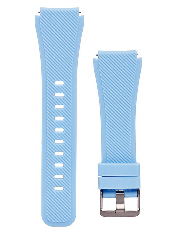 часы цена самсунг gear s Аксессуар Ремешок для Samsung Gear S3 Frontier/Gear S3 Classic/Galaxy Watch 46mm Activ Silicone Light Blue 93086