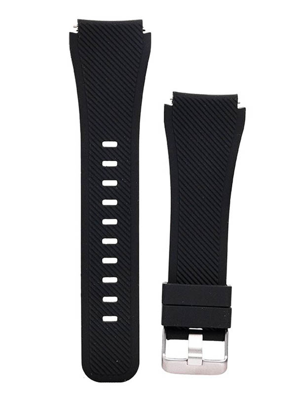 Аксессуар Ремешок для Samsung Gear S3 Frontier/Gear Classic/Galaxy Watch 46mm Activ Silicone Black 93082