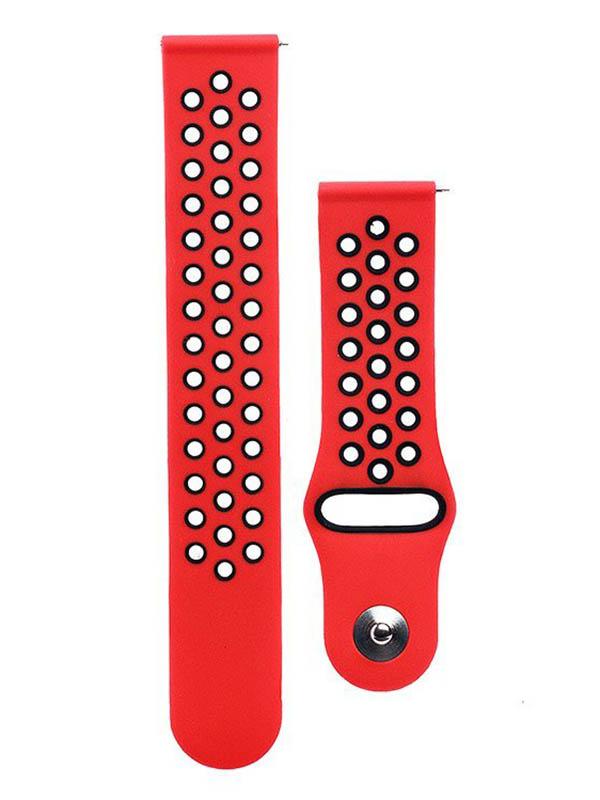 часы цена самсунг gear s Аксессуар Ремешок для Samsung Gear S3 Frontier/Gear S3 Classic/Galaxy Watch 46mm Activ Sport N Red-Black 93097