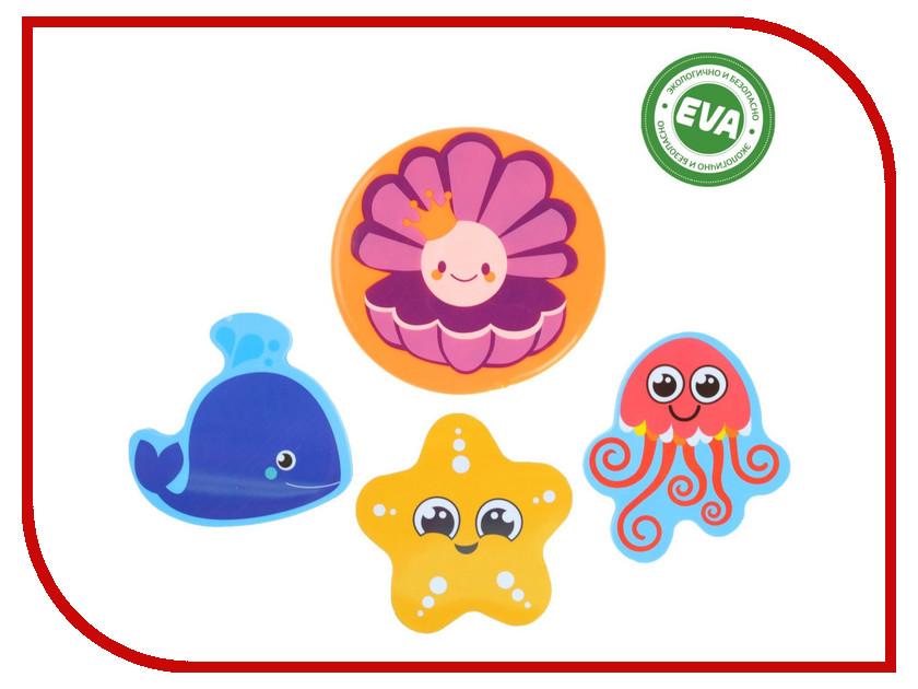 Купить Набор игрушек для ванны Крошка Я Морские жители + коврик на присосках 2724086