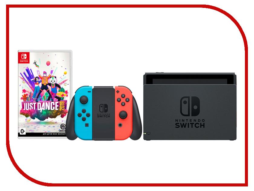 Купить Игровая приставка Nintendo Switch Neon Red/Neon Blue + Just Dance 2019