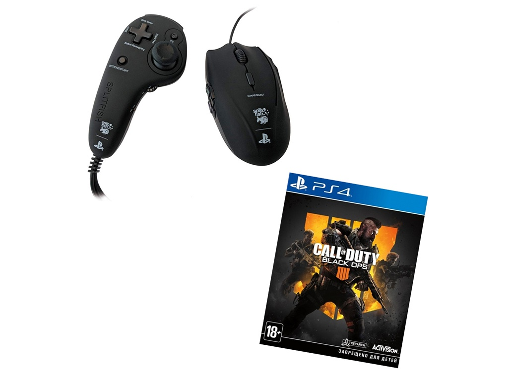 Комплект геймера Frag FX Piranha + Call of Duty: Black Ops 4 (Russian version) ACPS3F5 для для Sony Playstation 4