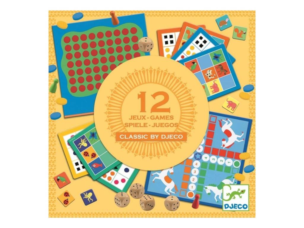 Купить Настольная игра Djeco Классическая 12 в 1 05218