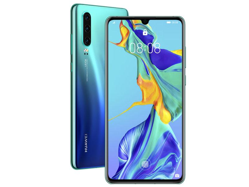 сотовый телефон fly slimline black blue Сотовый телефон HUAWEI P30 Aurora Blue