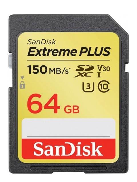microsd 64gb sandisk extreme pro Карта памяти 64Gb - SanDisk Extreme Plus - Secure Digital XC Class 10 UHS-I SDSDXW6-064G-GNCIN