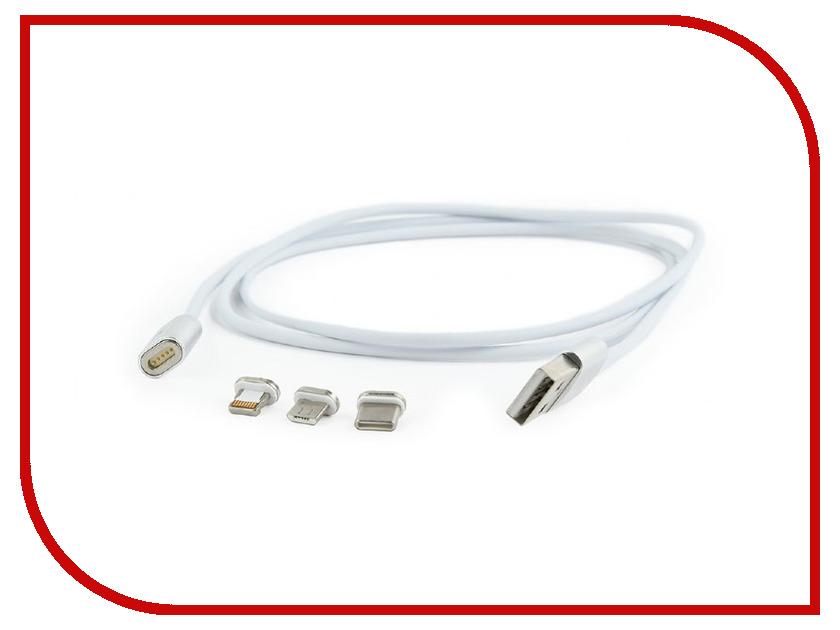Купить Аксессуар Gembird Cablexpert Magnetic USB 2.0 AM/Type-C + microBM 5P + Lightning 8pin CC-USB2-AMLM31-1M