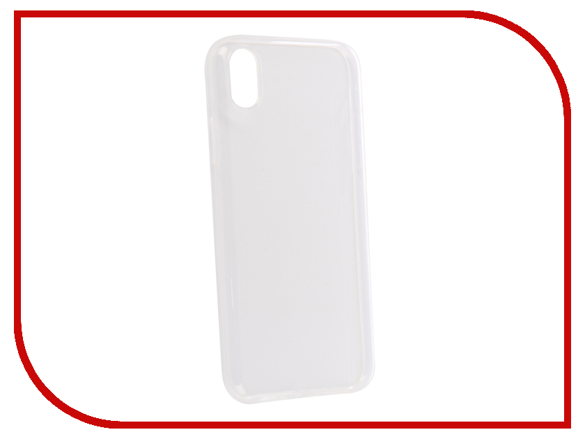 Купить Аксессуар Чехол для APPLE iPhone XR Brosco Silicone Transparent IPXR-TPU-TRANSPARENT