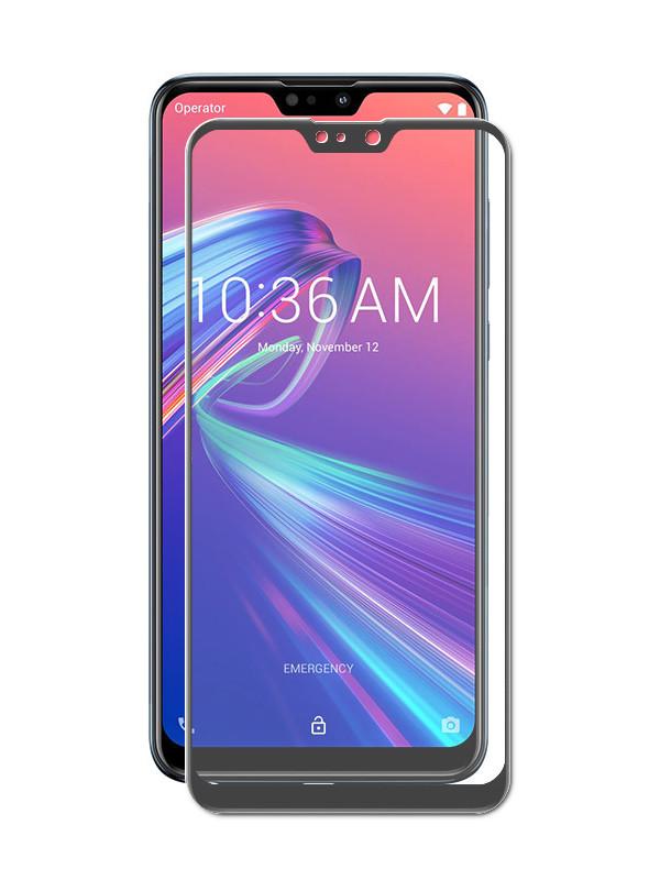 сотовый телефон asus zenfone max m2 zb633kl 64gb black Аксессуар Защитное стекло Brosco для ASUS ZenFone Max Pro M2 ZB631KL Black AS-ZFMPM2-GLASS-BLACK
