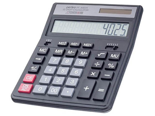 купить калькулятор citizen sdc 554s Калькулятор Perfeo Black PF_A4025