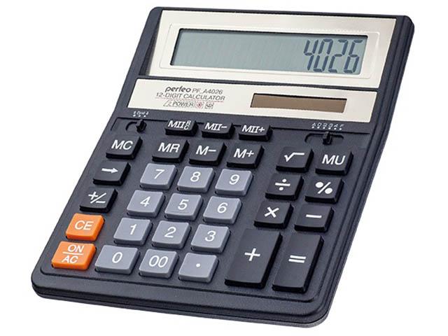 купить калькулятор citizen sdc 554s Калькулятор Perfeo Black PF_A4026