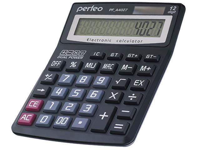 купить калькулятор citizen sdc 554s Калькулятор Perfeo Black PF_A4027