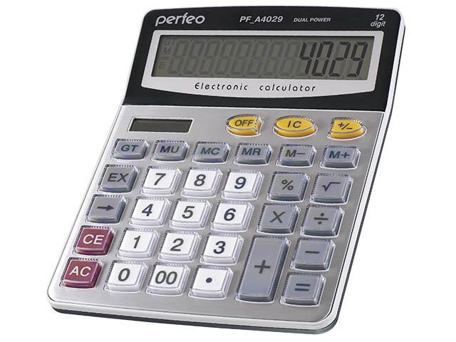 купить калькулятор citizen sdc 554s Калькулятор Perfeo Silver PF_A4029
