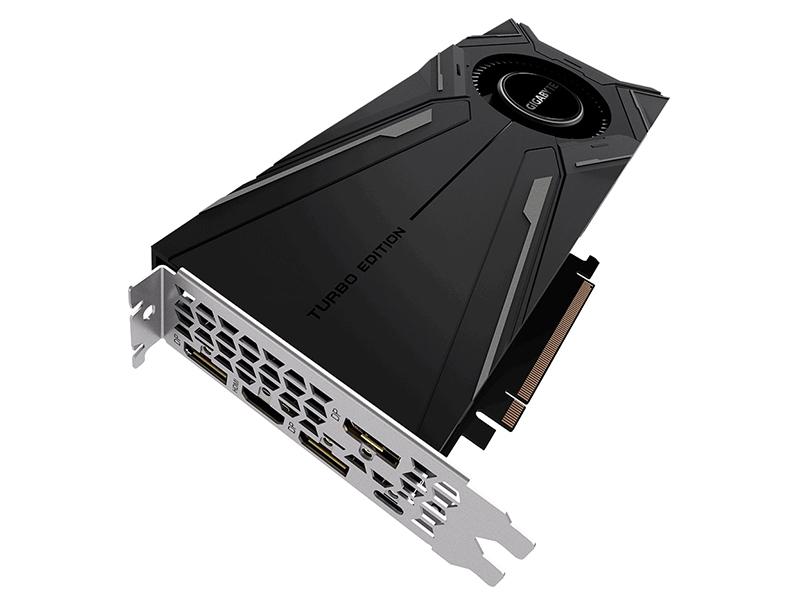 видеокарта gigabyte geforce gtx 1660 ti aorus 1890mhz pci e 3 0 6144mb 12000mhz 192 bit hdmi 3xdp gv n166taorus 6gd Видеокарта GigaByte GeForce RTX 2080 Ti Turbo 1545Mhz PCI-E 3.0 11264Mb 14000Mhz 352 bit UCB-C HDMI 3xDP GV-N208TTURBO-11GC