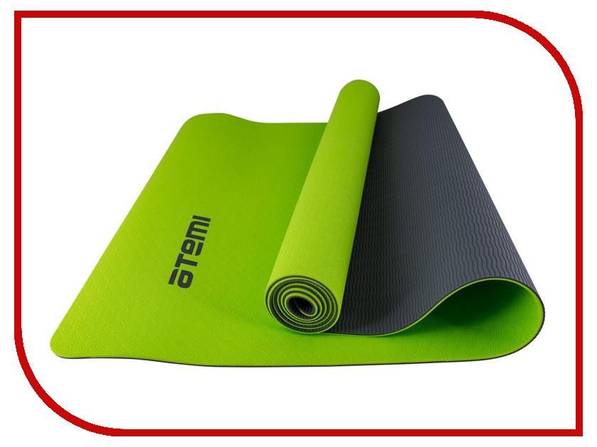 Купить Коврик для йоги Atemi 173x61x0.4cm Grey-Green AYM-01TPE