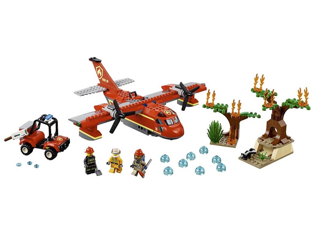 потолочная люстра todra gb 60217 5d Конструктор Lego City Пожарный самолёт 363 дет. 60217