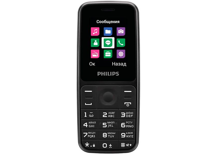4020101 телефон Сотовый телефон Philips E125 Xenium Black