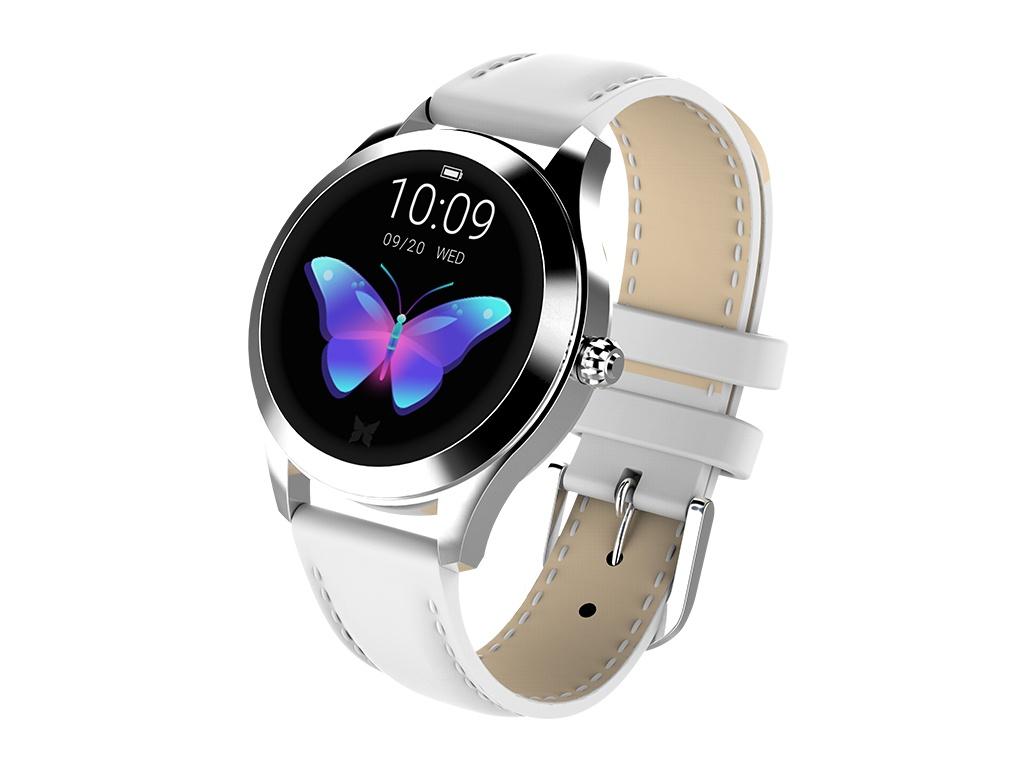 умные часы kingwear kw18 silver Умные часы KingWear KW10 White