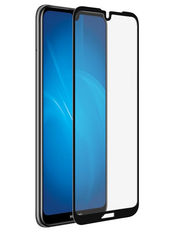 аксессуар закаленное стекло df для honor 9 lite full screen hwcolor 36 gray Аксессуар Закаленное стекло DF для Huawei Y7 2019 / Enjoy 9 Full Screen + Full Glue hwColor-95 Black