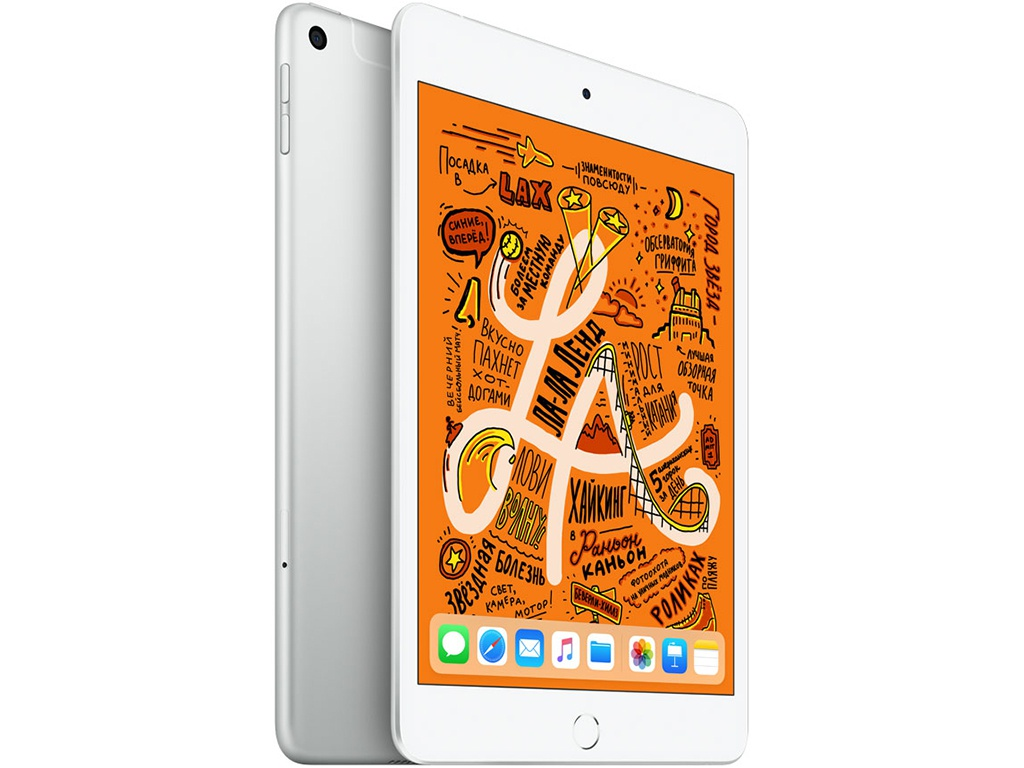 Планшет APPLE iPad mini (2019) 256Gb Wi-Fi + Cellular Silver MUXD2RU/A планшет apple ipad mini 2019 256gb wi fi cellular silver