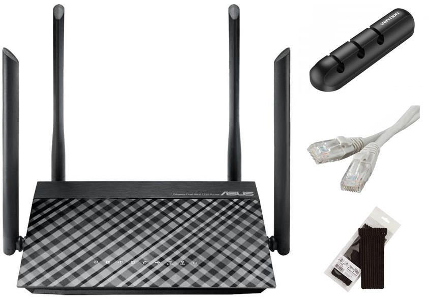 Wi-Fi роутер ASUS RT-AC1200 Выгодный набор + серт. 200Р!!!