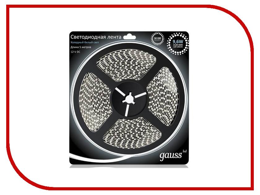 Купить Светодиодная лента Gauss LED 2835/120-SMD 9.6W 12V DC 5m Cold White 312000310