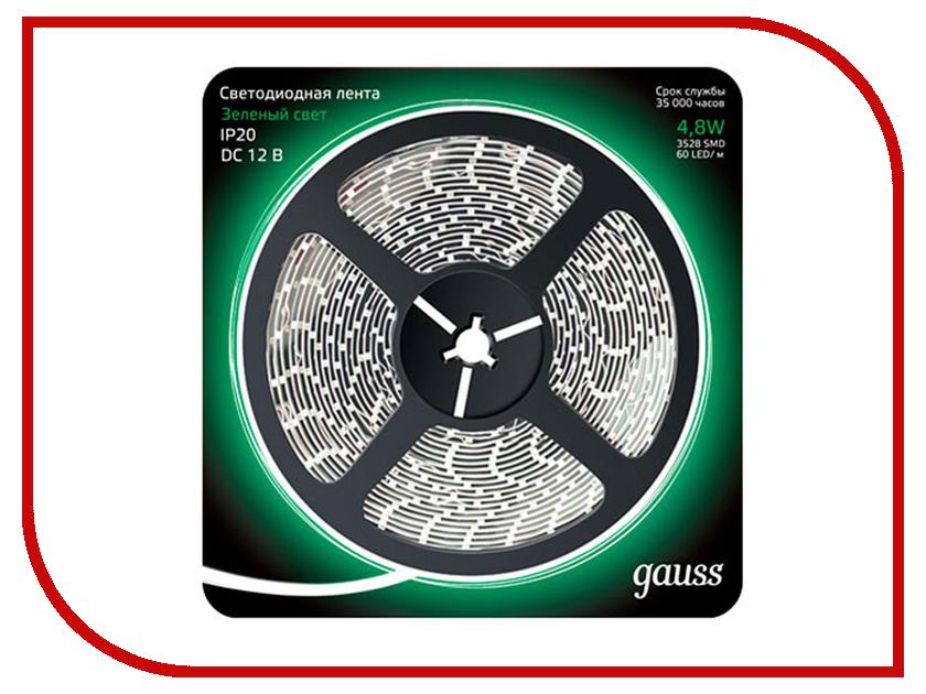 Купить Светодиодная лента Gauss LED 2835/60-SMD 4.8W 12V DC 5m Green 312000605
