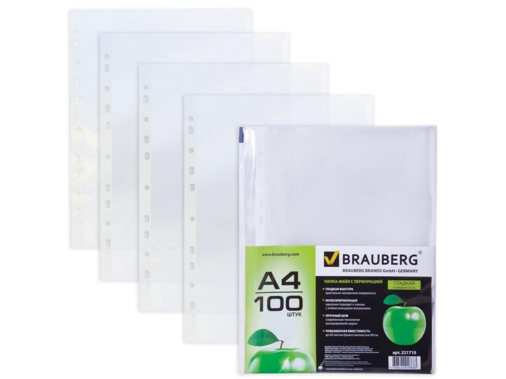 Папка Brauberg А4 100шт 221710