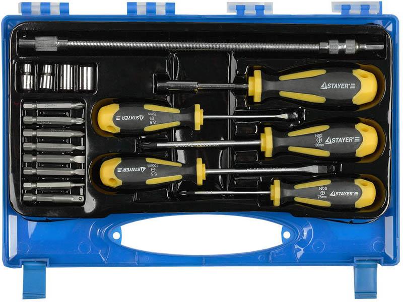 набор отверток stayer profi electro 25145 h6 z01 Набор отверток Stayer Professional 25134-H18 _z01