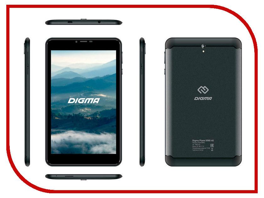 Купить Планшет Digma Plane 8580 4G Black PS8199ML (MediaTek MT8735 1.0 GHz/2048Mb/16Gb/GPS/3G/Wi-Fi/Bluetooth/Cam/8.0/1280x800/Android)