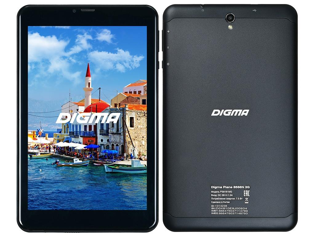 планшет dexp ursus 8e2 mini 3g купить Планшет Digma Plane 8566N 3G Black PS8181MG