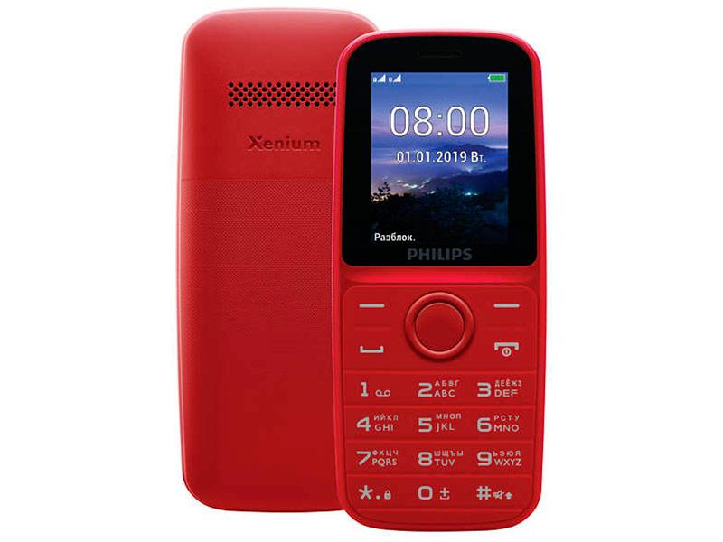 4020101 телефон Сотовый телефон Philips Xenium E109 Red