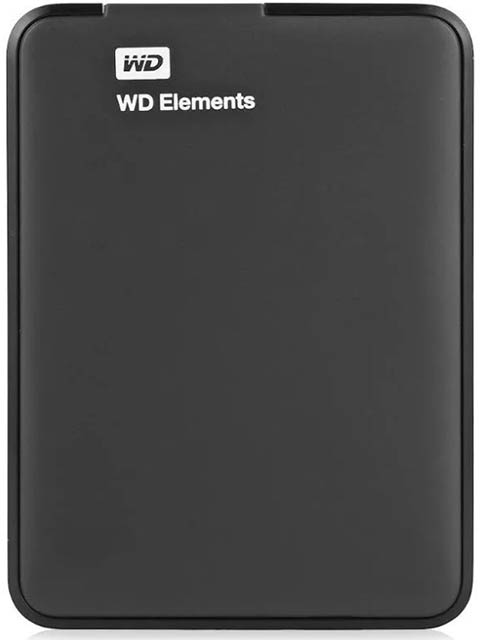 Жесткий диск HDD Western Digital WD Elements Portable (WDBM) 2 TB, черный