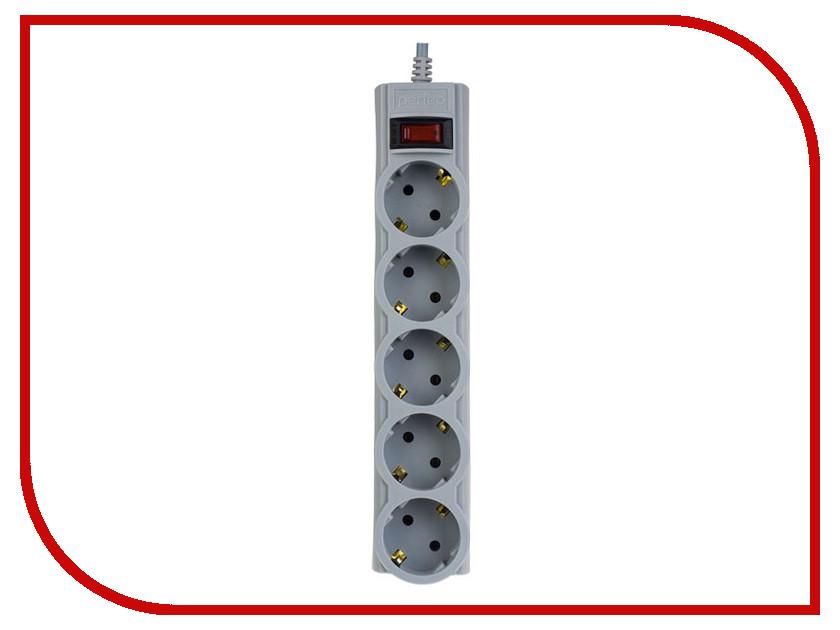 Купить Сетевой фильтр Perfeo 5 Sockets 1m Grey PF-SP-01030-G