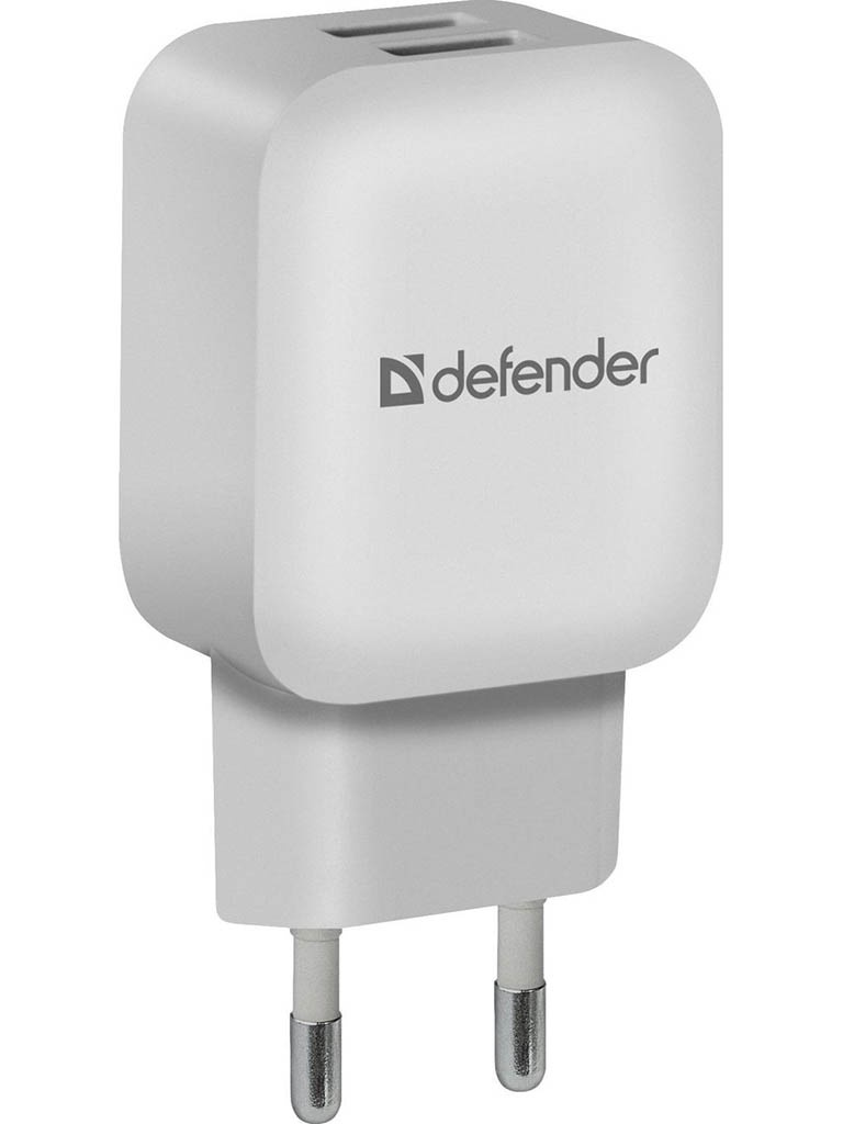 Зарядное устройство Defender EPA-13 2xUSB White 83841