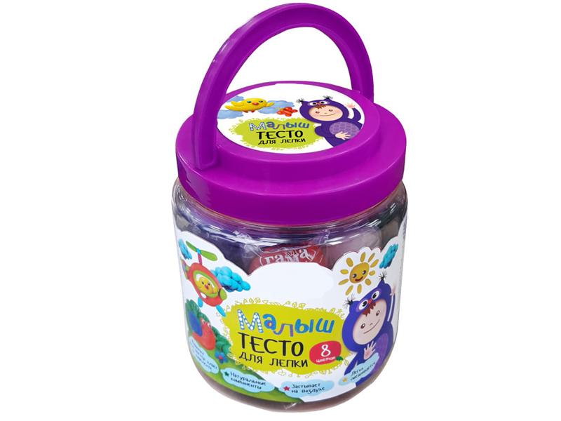 пластишка тесто для лепки Набор для лепки Гамма Тесто для лепки Малыш 8 цветов 211218_04
