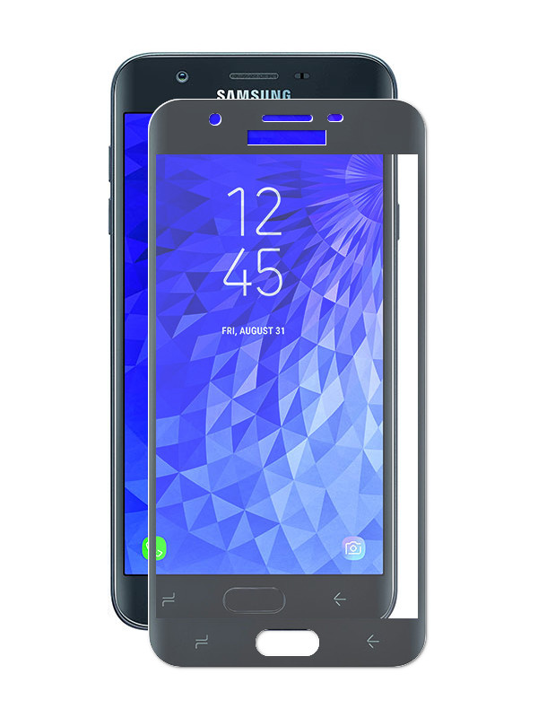 галакси j7 Аксессуар Стекло противоударное Gurdini для Samsung Galaxy J7 Pro 2.5D Black 908087