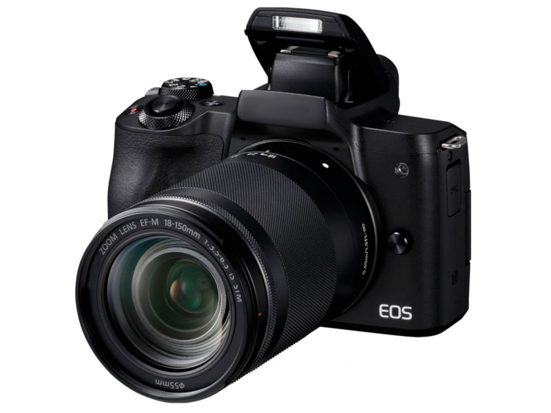 фотоаппарат canon eos 77d kit ef s 18 135 mm f 3 5 5 6 is usm Фотоаппарат Canon EOS M50 Kit 18-150mm f/3.5-6.3 IS STM Black 2680C042