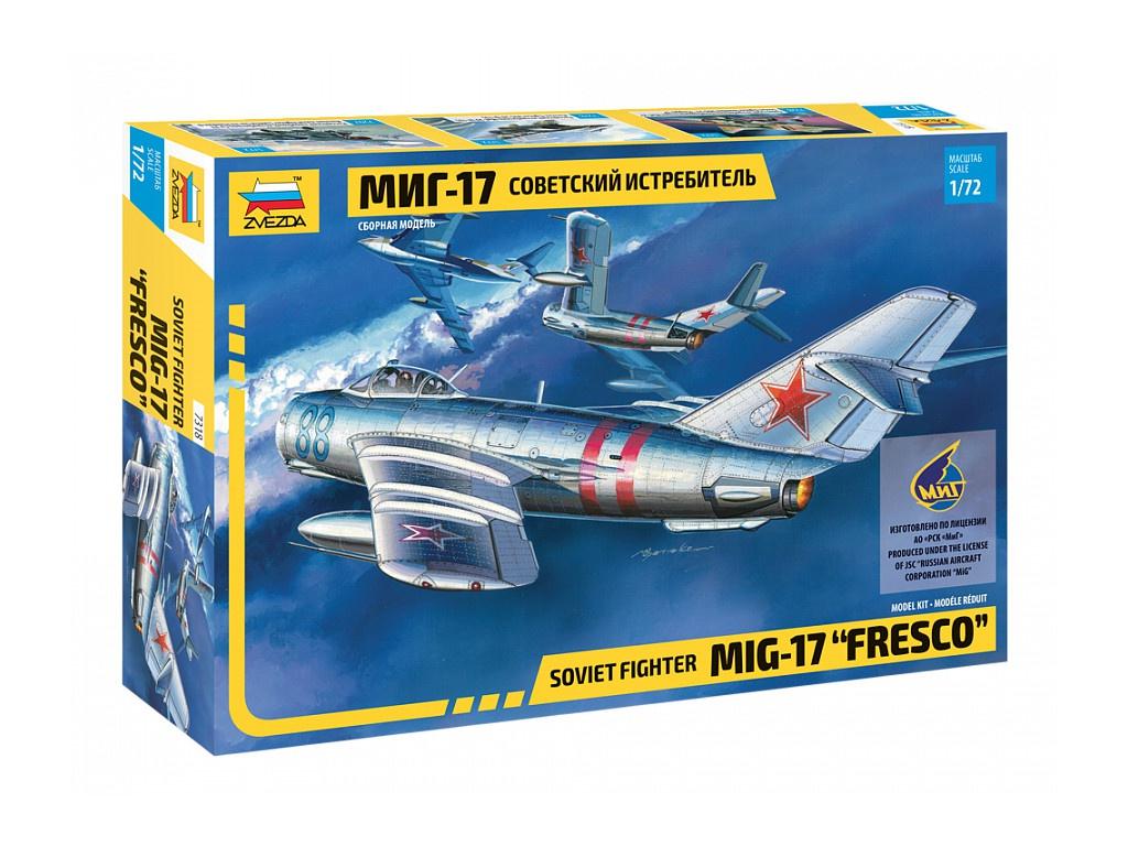 сборная модель zvezda российский многоцелевой истребитель су 30см 7314 Сборная модель Zvezda Советский истребитель МиГ-17 7318