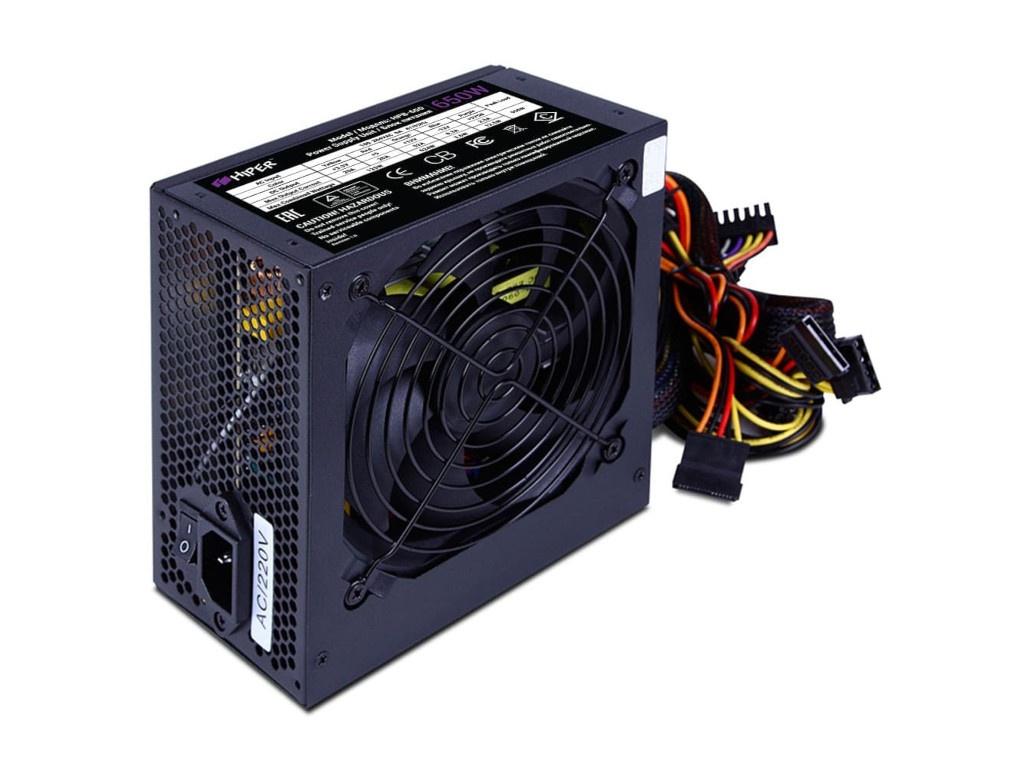Блок питания HIPER HPB-650 650W Black блок питания hiper hpb 550rgb 550w black